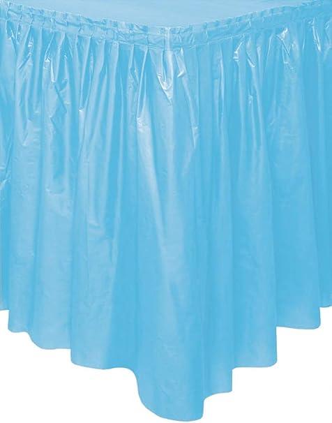 "29/"" X 14/' Blue Plastic Tableskirt"