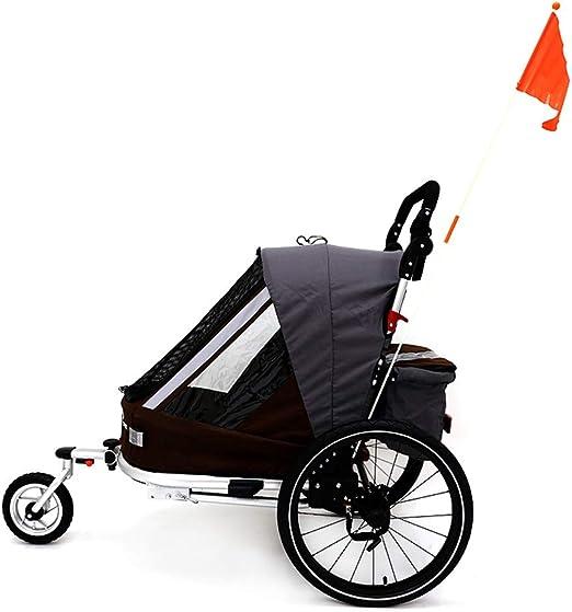 Remolque bicicleta de niño Asiento individual plegable Detrás de ...