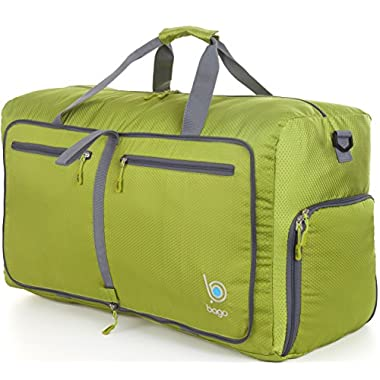 Travel Duffel Bag For Women And Men - Lightweight Foldable Duffle Bags 27  GREEN