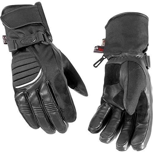 NEW RIVER ROAD MENS CHEYENNE COLD WEATHER LEATHER GLOVES, BLACK, LARGE/LG