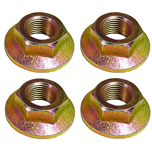 Four (4) New Aftermarket 712-0417 912-0417 Flange Spindle Blade Pulley Nut for Cub Cadet Toro MTD 600 800