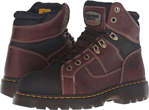 Dr. Martens Work Unisex Ironbridge Tec-Tuff Steel Toe 8-Tie Boot Teak Pitstop Boot Dr Martens 8 Tie