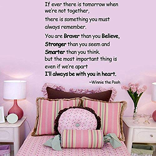 quotesHome Décor Ever There Tomorrow When We're Not Together.Winnie Pooh Wall Decals Mural Decor Vinyl Sticker SK3658 ()