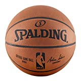 Spalding NBA Official Game Basketball, Leather, Official Size