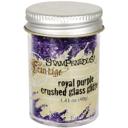 Stampendous Glass Glitter 1.4  Ounce-Royal Purple ()