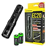 Nitecore EC20 960 Lumen CREE XM-L2 T6 LED Flashlight with Two EdisonBright CR123A Lithium Batteries
