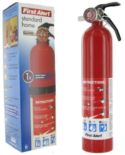First Alert HOME1 Abc 2.5 Pound Rechargeable Fire Extinguisher - HOME1-1-a B:C - 10 -Year Warranty, 1 Pack