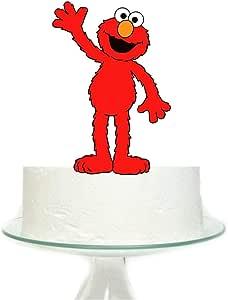 غطاء كعكة كبير بتصميم إلمو من سيسامي ستريت لمستلزمات حفلات أعياد الميلاد للأطفال