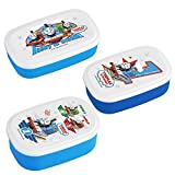 Thomas and Friends - Three Thomas Lunch (Bento) Boxes with Thomas Spoon and Fork