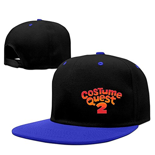 Welsh Childrens Costumes (Costume Quest 2 Logo Unisex 100% Cotton RoyalBlue Adjustable Snapback Baseball Caps One Size)