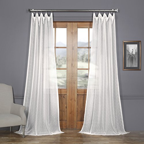 SHCH-201742-108 Patterned Linen Sheer Curtain, Montpellier, 50 x - Patterned Linen