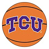 NCAA Texas Christian University Horned Frogs Basketball Shaped Mat Area Rug