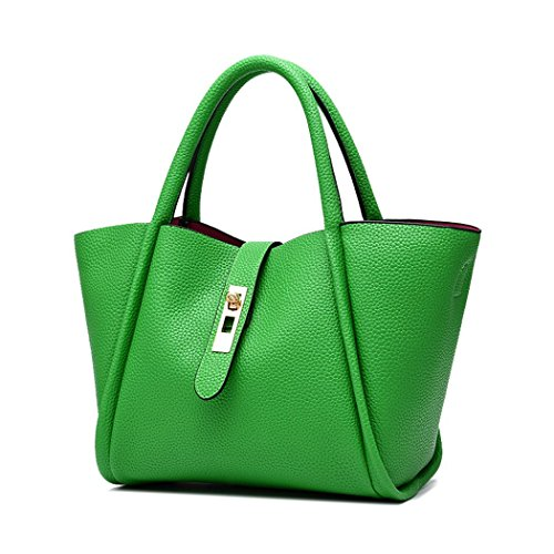 flake-rain-womens-fashionable-extraordinary-shape-pure-color-handbaggreen