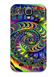 Awesome GtMKVIY1690vQpiI Matt C Brown Defender Tpu Hard Case Cover For Galaxy S4- Fractal