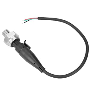 """G1/4"""" Pressure Transducer Sensor Stainless Steel 1% FS Accuracy Analog Sensor Output Signal for Water Gas Oil(0-200PSI)"""