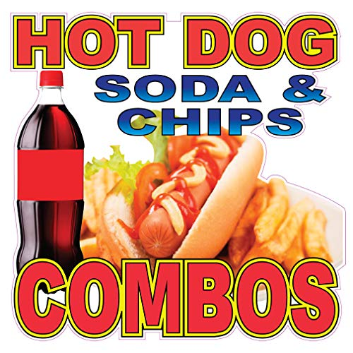 Hot Dog Soda& Chips Combo Concession Restaurant Food Truck Die-Cut Vinyl Sticker 10 inches from Fastasticdeals