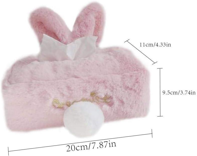Auto /& LKW-Dekoration Taschentuchspender Kosmetikt/ücher Niedlichen Cartoon Kaninchen Tier Papier Veranstalter Multi-Use Serviette Box Papier Box F/ür Zuhause B/üro