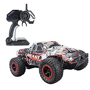 Fistone RC Car 2.4G High Speed Racing Cars 15km/h 1:16 Beast Radio Control Monster Truck Rock Off-Road Vehicle Buggy Hobby Electronic Game Toys Model (Red) - 519mXqHhavL - Fistone RC Car 2.4G High Speed Racing Cars 20km/h 1:16 Beast Radio Control Monster Truck Rock Off-Road Vehicle Buggy Hobby Electronic Game Toys Model (Red)