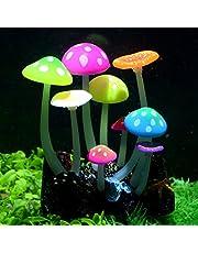 Pawfly Glowing Effect Artificial Aquarium Plant Decor Ornament Decoration for Fish Tank Landscape