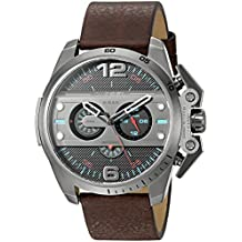 Diesel Men's Ironside Quartz Stainless Steel and Brown Leather Casual Watch (Model: DZ4387)