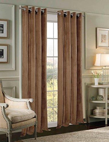 Panel Velvet Home Grommet Window (Dainty Home Velvet Grommet Window Panel Pair, 108