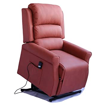 Irene House Modern Transitional Electric Power Lift Recliner Chair With  Soft Breathable Fabric (Orange)