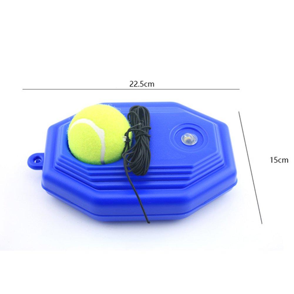 Hinmay Zapatillas de Pelota de Tenis, Base de Tenis con una Cuerda de Rebote de Tenis de autoestudio con Estribo de Entrenamiento + 1 Pelota de ...