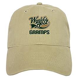 CafePress – Gramps Gift (Worlds Best) – Baseball Cap with Adjustable Closure, Unique Printed Baseball Hat Khaki