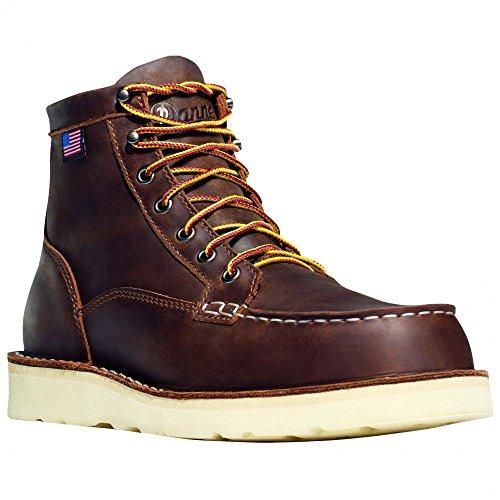 """Danner Men's Bull Run Moc Toe 6"""" Brown Work Boot 7.5 EE"""