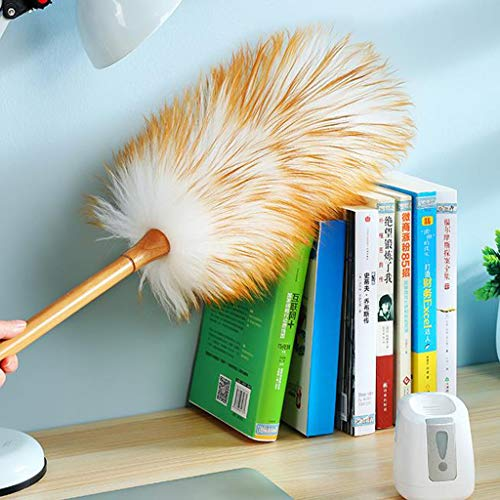 ZHANGY Ostrich Feather Makeup/Role Playing Accessories/Props Dust Scorpion Wooden Handle Cleaning The Donkey by ZHANGY (Image #4)