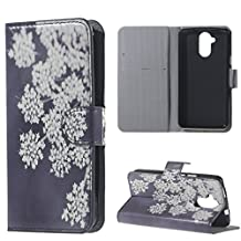 """For Acer Liquid Z410 4.5"""" Case Premium Protective Cases PU Wallet Magnetic Closure Shell White Amaxy"""