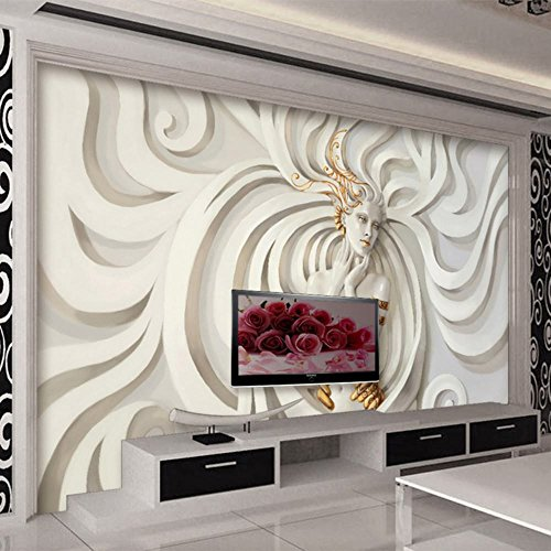 Colomac Wall Mural Modern Abstract Art 3D Stereo Embossed Sculpture Female Mural Suitable for Bedroom Gallery Sofa TV Background Home Decor Wallpaper 55 Inch x 27.5 Inch from colomac