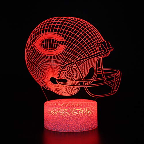 NFL Team 3D Optical Illusion 7 Colors LED Night Light