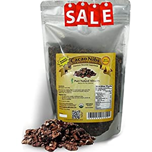 Pure Natural Miracles Raw Organic Cacao Nibs from the Best Cocoa Beans, 100% USDA Certified