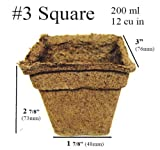 100 x (3 Inch Square) Eco-Friendly CowPots Cow Pots for Seeds Starting Transplants 100% Natural and Biodegradable - Develop Healthier Roots - Pots Adds Nutrients to Soil