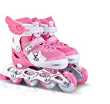 Inline Skates Adjustable ABEC-7 PU Wheels , pink , large