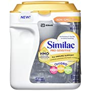 Similac Abbott Pro-Sensitive Non-GMO Powder Infant Formula with Iron with 2'-FL HMO for Immune Support 34 oz