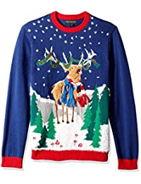 Men's Ugly Christmas Sweater Reindeer