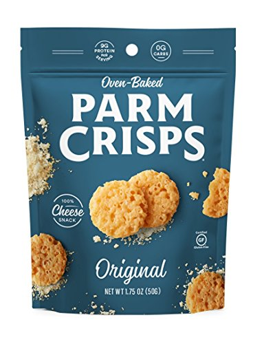 ParmCrisps Original Flavor, Made From 100% Real Parmesan Cheese, Gluten Free, Sugar Free, Keto Friendly, 1.75oz Bag, Pack of 12 (Parmesan Chips)