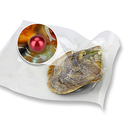 Wholesale Saltwater Round Akoya Oyster With Red Pearls Of 6-7mm - Pearls Wholesale Akoya
