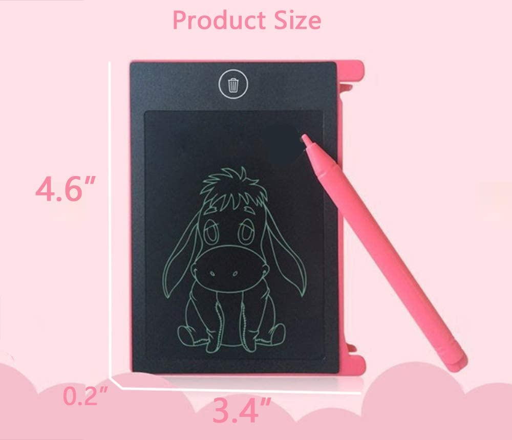 TIANDOU 4.4 Electronic LCD Writing/&Drawing/&Learning Tablet Drawing Board Portable Doodle Handwriting Notepad/&Pad Gift for Kids at Home/&School,Blue