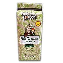 THE COFFEE FOOL Fool's Tanzanian Peaberry (Powder (Turkish)) 12 Ounce