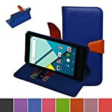Blu Studio 6.0 HD Case,Mama Mouth [Stand View] Folio Flip Premium PU Leather [Wallet Case] With Built-in Media Stand ID Credit Card / Cash Slots and Inner Pocket Cover Case For Blu Studio 6.0 HD D650a, Blue