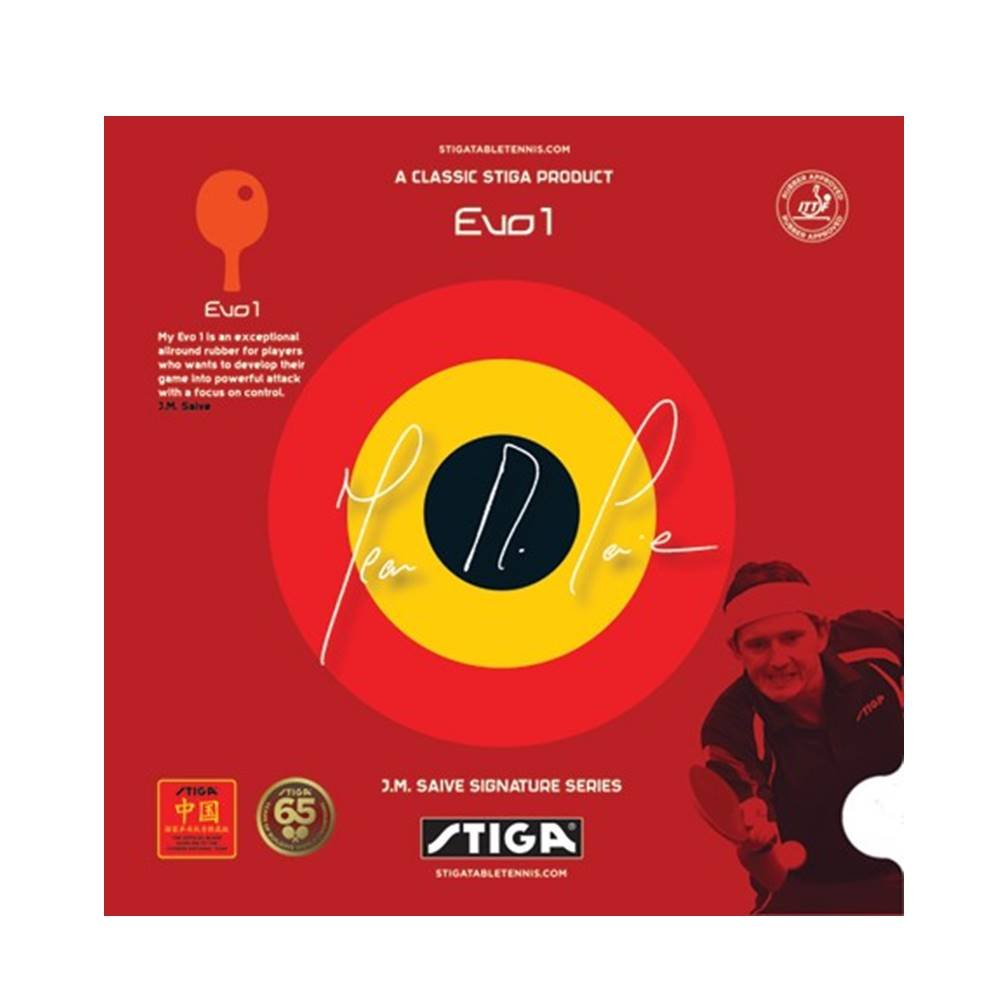 STIGA EVO1 Table Tennis Rubber (I.T.T.F. Approved), RED, 1.8 mm