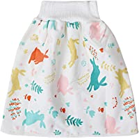 HNBJJY Comfy Cartoon Baby Nappy Skirt Diaper High Waist Belly-Protecting Diaper Skirt Shorts 2 in 1 Shorts for Baby…