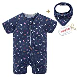 BIG ELEPHANT Baby Girls'2 Piece Summer Short Sleeve
