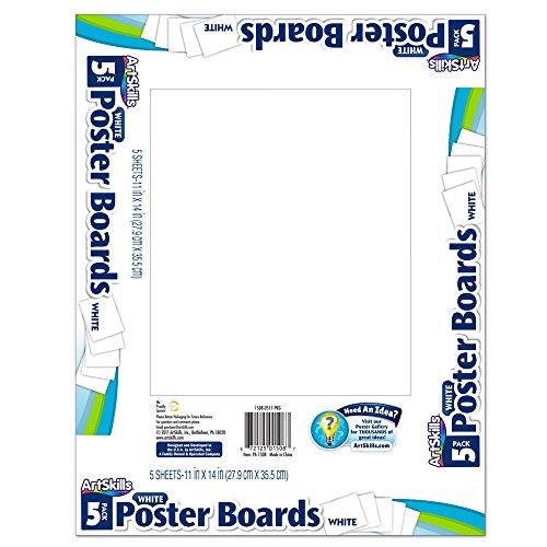 Poster Board 5 Posters (ArtSkills Poster Board, White, 11