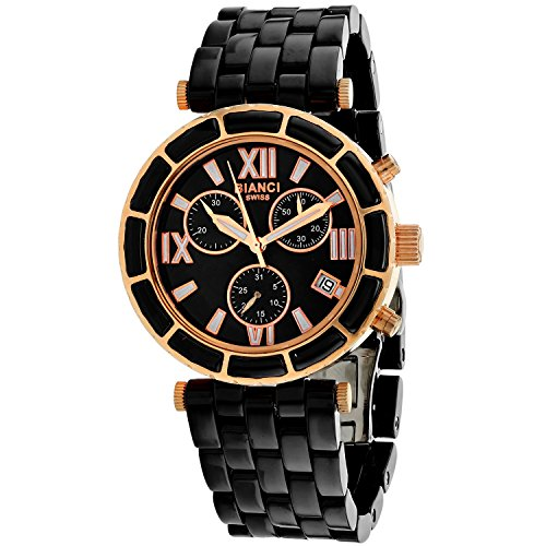 ROBERTO BIANCI WATCHES Women's 'Galeria' Quartz Stainless Steel and Ceramic Casual Watch, Color:Black (Model: RB26801)