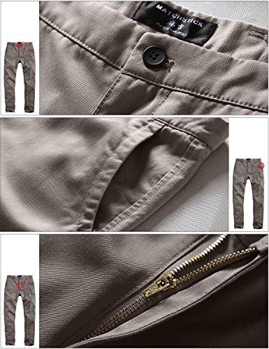 Homme grayish Match Chino 8116 Green 8025 Gris Slim Vert Tapered Pantalon 44InBqa