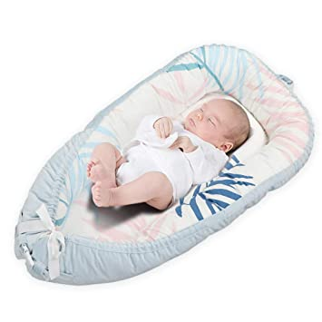 Portable Double-sided Baby Crib Bassinet Nest Sleeping Bed Detachable Mattress